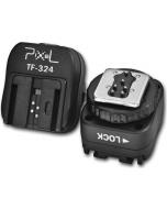 Blitsskoadapter med synkport for Canon til Sony - Pixel TF-324