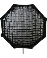 Octagonal Softboks med Raster - Hurtig - 110 cm