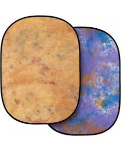Bakgrunn Sammenleggbar Beige/Blålilla - 150x200 cm