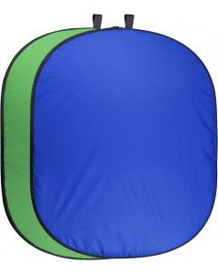 Bakgrunn Sammenleggbar Blå/Grønn - 150x200 cm