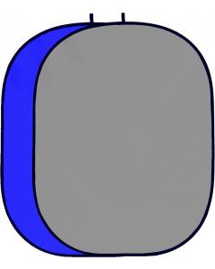 Bakgrunn Sammenleggbar Blå/Grå - 150x200 cm