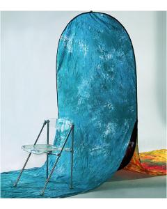 Bakgrunn Sammenleggbar Blå/Rødgul - 160x210x480 cm