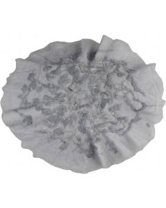 Pledd - Ull - Rundt - 60 cm - Grått