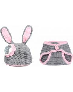 Bukse og lue til nyfødtfoto - Baby Bunny