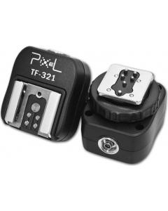 Blitsskoadapter med synkport for Canon - Pixel TF-321
