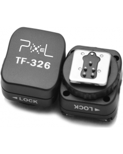Blitsskoadapter med synkport for Canon - Pixel TF-326