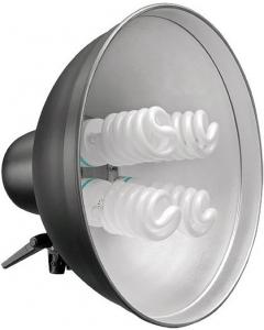 Reflektor 40 cm med 4 sokler.