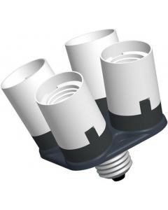 Splitter til Lampeholder 1 til 4 - E27-sokkel