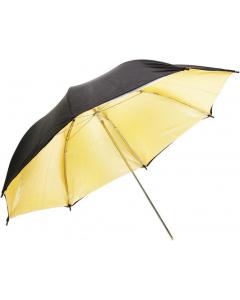 Paraply Reflektiv Gull - 105 cm