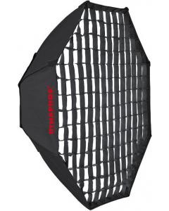 Octagonal Softboks med Raster - Dynaphos - 95 cm