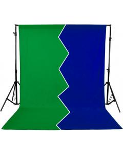 Bakgrunn Ensfarget Grønn/Blå - 2.9x5 m