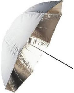 Paraply Reflektiv Gull - 70 cm