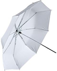 Paraply Halvtransparent Hvit - Sammenleggbar - 75 cm