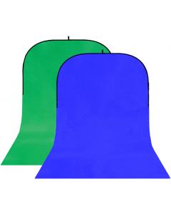 Bakgrunn Sammenleggbar Blå/Grønn - 150x400 cm