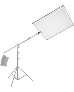 Refleks- og diffusorskjerm til stativ - 145x145 cm