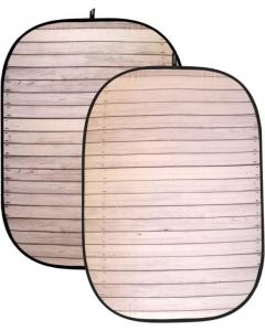 Bakgrunn Sammenleggbar - Hvitt treverk - 150x200 cm