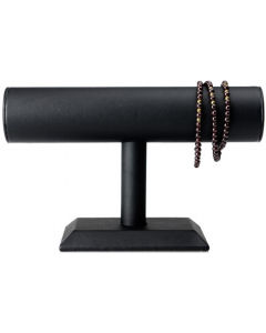 Armbåndholder - Sylinder - Sort PU lær - 23x14 cm