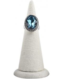 Ringholder - Hvit lin - 8x4 cm