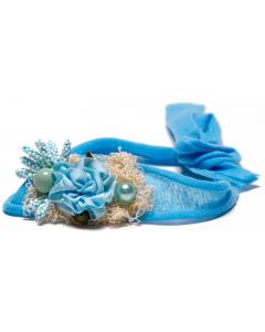 Hårbånd til nyfødtfotografering - Oppsats - Blå/Turkis