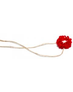 Hårbånd til nyfødtfotografering - Enkel blomst - Rød
