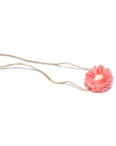 Hårbånd til nyfødtfotografering - Enkel blomst - Rosa
