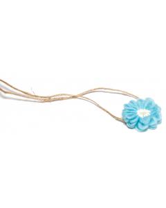 Hårbånd til nyfødtfotografering - Enkel blomst - Blå