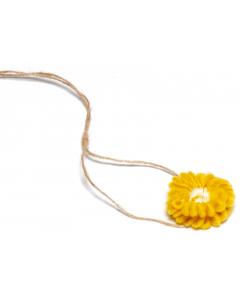 Hårbånd til nyfødtfotografering - Enkel blomst - Gul