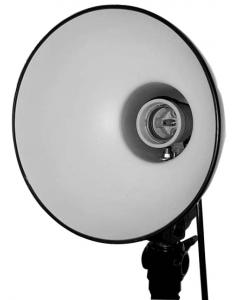 Lampeholder med Reflektor - 17 cm