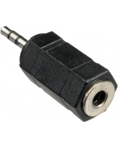 Adapter - 2.5 mm hann til 3.5 mm hunn