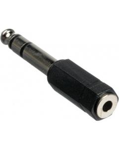 Adapter - 6.35 mm hann til 3.5 mm hunn