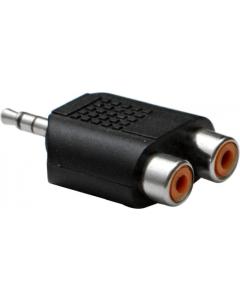 Adapter - 3.5 mm hann til 2xRCA hunn