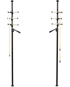 Autopole med bakgrunnsoppheng til 3 ruller - 2 stk.