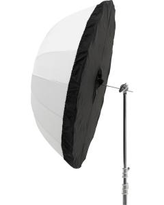 Diffusor til Paraply - Sølv/Sort - 130 cm - Godox DPU-130BS