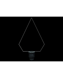 Pleksiglass Diamant - Light Painting Brushes 9in Plexiglass Diamond