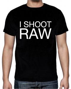 T-skjorte - I Shoot Raw - Large