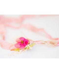 Hårbånd til nyfødtfotografering - Blomsterbukett